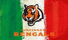 Green white red Stripes Cincinnati Bengals flag 3ftx5ft Banner 100D Polyester Flag metal Grommets 19507(China)