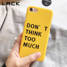 Buy LACK Fashion Ultra thin Hard PC Phone Case iphone 8 Case Funny Cartoon Letter Print Back Cover iphone8 8 Plus Cases Capa for $1.66 in AliExpress store