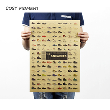 COSY MOMENT Sneakers Collection Nostalgia Retro Kraft Poster Vintage Cafe Advertising Decorative Painting Wall Decoration QT311(China)