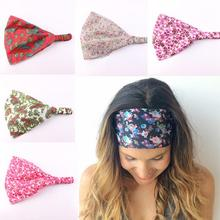 1 PC Fashion Sweet Cute Women Wide Headband Print Floral Flower Bandanas Lovely Head Wraps Hair Band Hair Accessories 6 Colors
