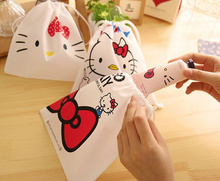1X Random Model Kawaii Hello Kitty 18CM String Control Lady's Wrist Coin Pouch BAG , Cash Pouch BAG Purse & Wallet BAG