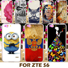 Top Selling Painting design Hard Plastic Case For ZTE Blade S6 Q5 Q5-T 5.0 inch Cell Phone Cover Protective Sleeve Back Shell