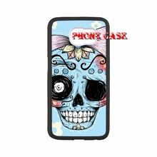 For iPod Touch 4 5 6 Samsung Galaxy Note 3 4 5 HTC One M7 M8 M9 LG G2 G3 G4 Sugar Skull Bone accessories Hard Skin