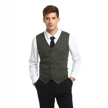 Mens Vests Suit 2017 Sleeveless Male Waistcoat For Vest Waistcoat Wedding Dresses Wedding Classic Colete Masculino Social Blazer(China)