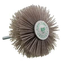 Wholesale Price 1PC Shank 80mm Dia Abrasive Nylon Wheel Brush Woodwork Polish Bench Grinder For Home