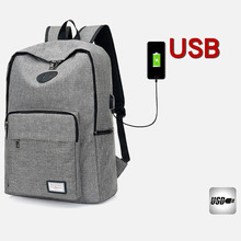 USB Charging Unisex Design Book Bags for School Travel Women Backpack Casual Rucksack Canvas Laptop Preppy Style Man Backpack ST