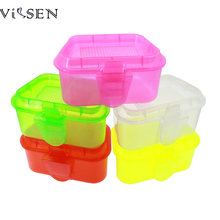Vissen Fishing Tackle Box 1pc Retail Fishing box 11.5*8.5*5.5cm Plastic Earthworm Worm lure boxes Fishing Accessorie(China)