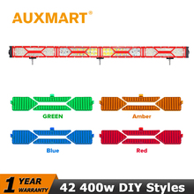 Auxmart 42 inch Led Light Bar CREE Chips 400W LED Work Light Bar DRL Combo/Spot/Flood Beam Trailer Wagon SUV 4x4 Pickup Truck