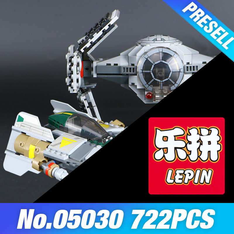 LEPIN 05030 Star Vader Wars Tie Advanced VS A Star wing fighter 75150 Building Blocks Compatible Educational boys Toy DIY  Gift<br>