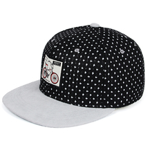 [WORSICO] Black Baseball Cap Women Snapback hip hop Cap Dot Cotton Skateboard Flat Cap hat For Summer Visor Bone Trucker Caps