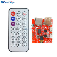 Car Bluetooth 4.1 MP3 WAV Decoding Board 3W Speaker Amplifier Audio Receiver Module Support USB/TF/U-DISK/IR Remote Control(China)