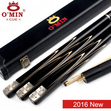 2016 New Omin GunMan Handmade 3/4 Snooker Cues 9.8mm Tip Snooker Cue Case Set With Extension Ash Shaft Ebony Handle Fast Ship