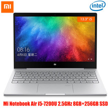 "Buy Xiaomi Mi Notebook Air Windows 10 Laptop 13.3"" Intel Core i5-7200U Dedicated Card Dual WiFi Dual Core 2.5GHz 8GB RAM 256GB SSD for $686.99 in AliExpress store"