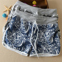 High Quality ! Fashion Girls Brand PrintingCotton Shorts , 2015 Feminino Casual Beach Summer Shorts  For Women 6 Colors