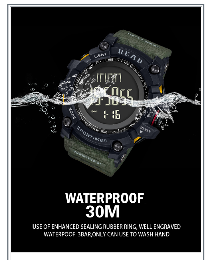 luxury brand READ LED digital wristwatches for men waterproof shock resist military watch free shipping 2018 (12)