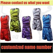 Free shipping 2016 17 New Men Basketball Jersey Adult  Set Shorts Sport Team Sportswear Uniform Training Suits Outdoors DIY Can