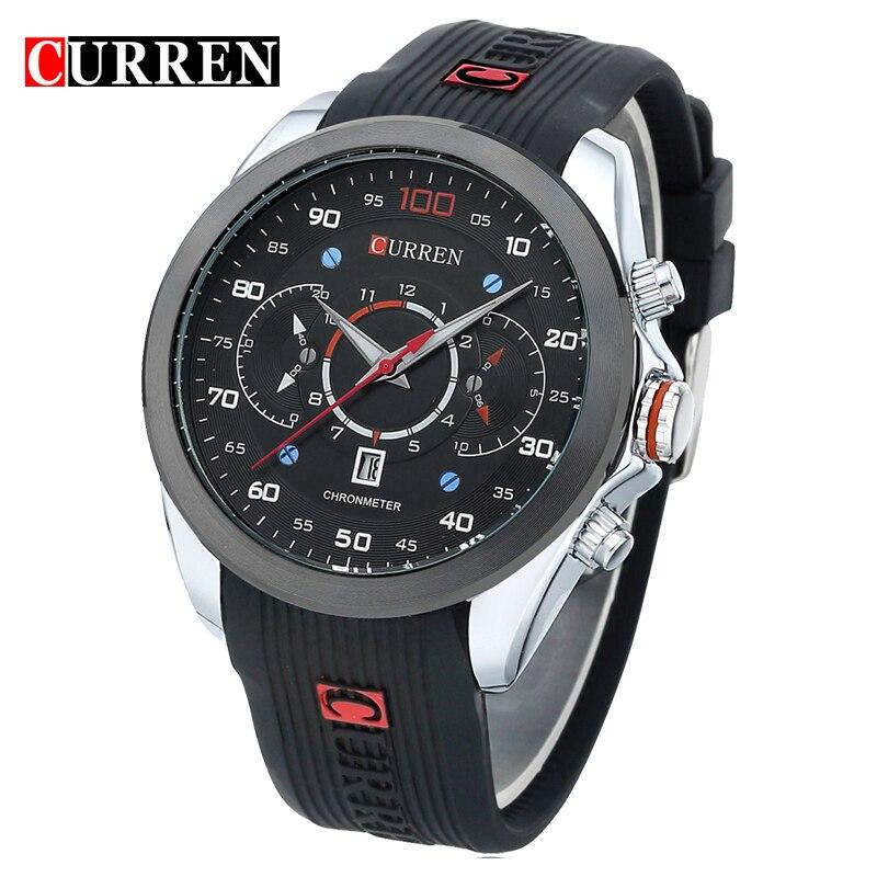 Curren 2017 Mens Watches Top Brand Luxury Mens Sports Quartz Wristwatches Relogio Masculino Men Curren Watches 8166<br><br>Aliexpress