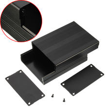 1pc Black Aluminum Enclosure Case Mayitr PCB Instrument Electronic Project Box 100x76x35mm