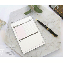 2 pieces office & school creative stickers memoranda to-do this plan The schedule of desktop memo sticky notes pads 60p