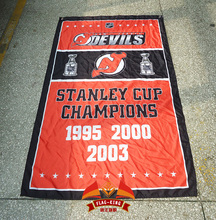New Jersey Devils Stanley Cup Champions Flag 3ft x 5ft Polyester NHL Banner Flying Size 90*150cm Custom flag