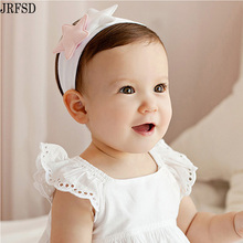 JRFSD 2017 Cute Headband Cool Printing Elasticity Hair Band Cotton Hair Accessories(China)