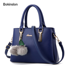 Bokinslon Shoulder Bags Woman PU Leather Populae Crossbody Bags Women Temperament Fashion Female Hansbags Bags(China)