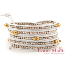 Skull series limited edition white sterling silver gold skull 8 bracelet bags(China)