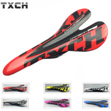 TXCH Bicycle glossy Matte carbon saddle top version seatpad MTB bike full carbon saddle Road Bike front sella seat Bicycle Prats(China)