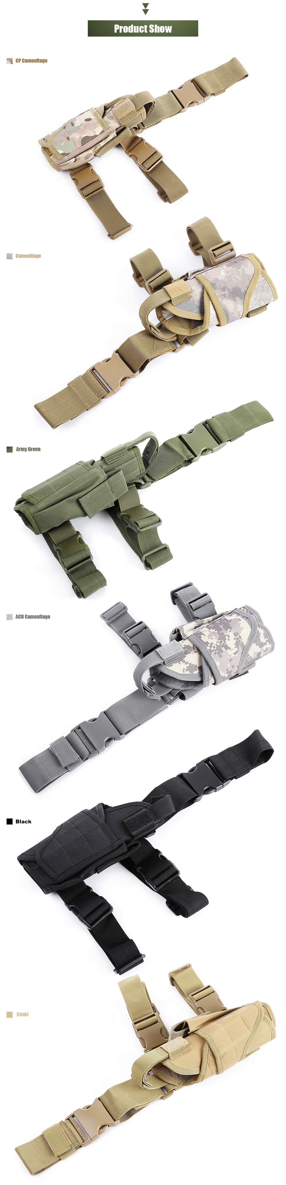 Outdoor Multifunctional Camouflage Holster Waist Leg Pouch