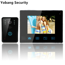 "Yobang Security freeship 9""Wireless Door Phone Doorbell Intercom With Touch Key Camera TFT LCD Video Doorphone Intercom System"