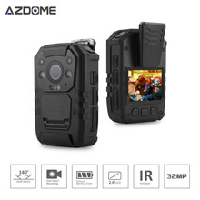 Azdome BC01 Ambarella A7LA50 Police Body Worn Camera Full HD 1296P 30fps IR Night Vision 2inch LCD IP65 Waterproof Body Cam 32GB