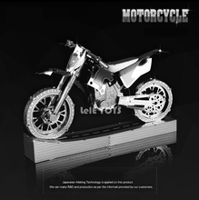 HK NanYuan Chinese 3D Motorcycle Metal model Nano Puzzles Stainless steel 1:28 Creative English packing Instruction manual(China)