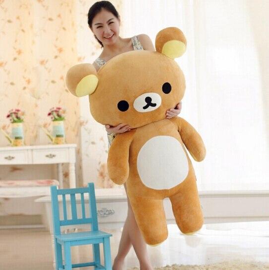 Hot Sale Huge 80cm San-x Rilakkuma Relax Bear Lovely Stuffed Toys Cute Soft Pillow Plush Toy Doll<br><br>Aliexpress