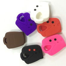 silicone rubber car key cover case for PROTON Wira PROTON 415 PROTON 416 PROTON Persona  2button key