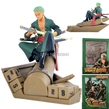 High Quality PVC ONE PIECE Assemble Eternal Calendar Roronoa.Zoro Action Figure Anime Model Toy Decoration Collectibles