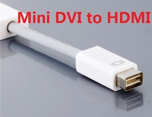 100PCS Mini DVI To HDMI cable male to Female M/F Video converter Adapter Cable Cord For Apple iMac Macbook Pro