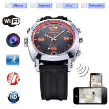 EPiCfeat TF card Wifi HD P2P IP Infrared Camera IR Night Vision Watch for Android iOS phone recording watch compass LED WOW15