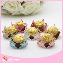 50pcs Lucky Stars Laser Cut Paper Candy Bar Chocolate Packaging Chocolate Bar Birthday Party Supplies Wedding Decoration(China)