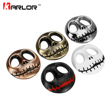 Pumpkin King Jack Skellington Skull 3D Metal Car Auto Motorcycle Badge Emblem Stickers Chrome Tuning Car-Styling Accessories(China)