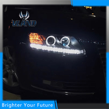 New Type Certificated Warranty DRL For Audi A6 2005-2012 Headlight Headlamp(China)