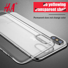 H&A Ultra Thin Soft TPU Transparent Phone Cases For Apple iphone X Case For iPhone X Case Crystal Clear Silicon Cover Capa(China)