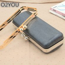 China DIY Accessories For Making Purse Frame Handle Size 24 CM Two Round Clasp Coin Purse Frames With Black Plastic Bag Handle