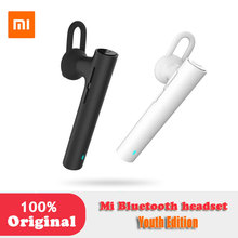 XIAOMI Original MI bluetooth headset Youth edition earphones Handsfree For iPhone Samsung LG android Phone wind noise canceling(China)