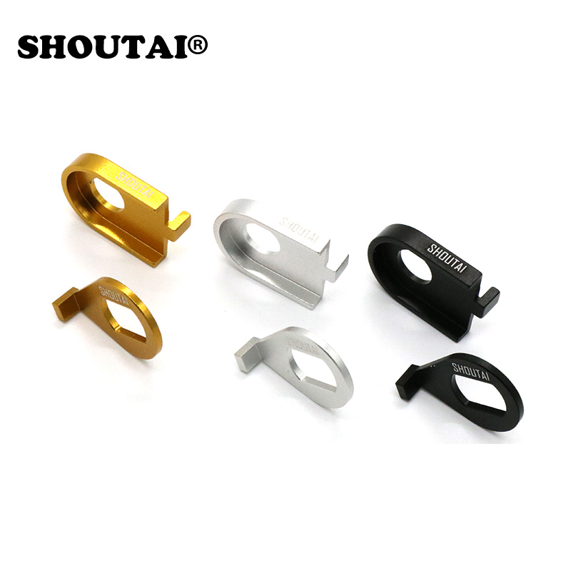 Shoutai 7075 Rear Frame Clip for Brompton Bicycle folding Gold Black Silver