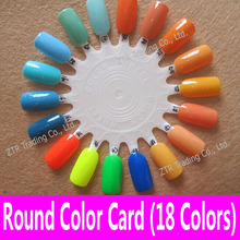 1 pc 18 tips Round Nail Art Practice Wheel Design Training Polish Color Display Card Nail Color Chart Showing Shelf Supplier