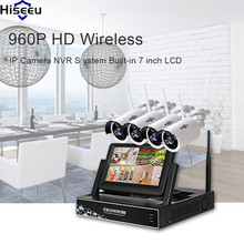 Hiseeu 960P 4ch NVR Wireless CCTV System 1TB HDD IP Camera IR-CUT Camera Set CCTV Home Security System Surveillance Kits(China)