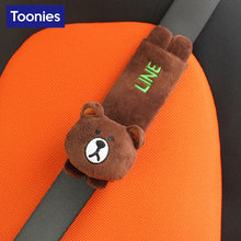 One Piece Smart Fortwo Cute Child Baby Rabbit Safety Seat Belt Shoulder Pad Cartoon Seatbelt Cover Seat Belt Protector Cushion