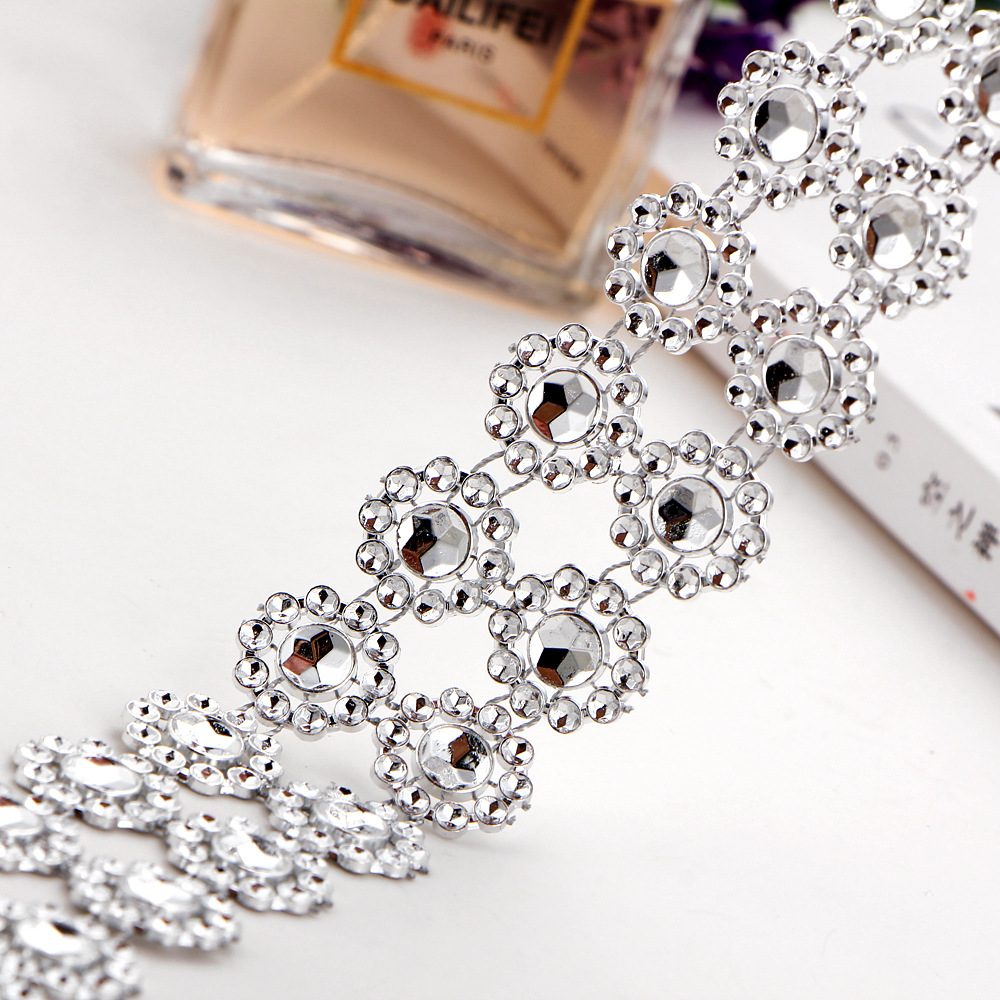 Women Personality Multilayer Bling Crystal Concave Rhinestone Choker Necklace