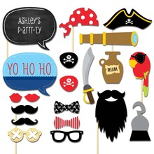 Set of 20 Pirate Photo Booth Props on A Stick DIY Kits Photobooth Fun Wedding Birthday Party Decoration Centerpieces
