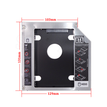 "2nd Caddy Bay SATA to SATA 3.0 HDD 9.5MM Case 2.5"" SSD Hard Disk Driver External Enclosure CD DVD ROM Laptop Tablet PC Notebook(China)"